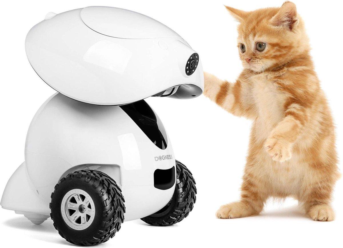 Dogness   Smart iPet Robot voor Hond & Kat   Bestuurbaar en Rijdend Voerautomaat   Treat Dispenser