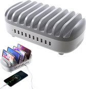 Orico - 120W Multi charger docking station 10 Poort USB oplaadstation Wit