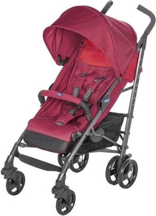 Product: Chicco Lite Way 3 Complete Buggy - Plooibuggy - Kinderwagen 3 in 1  - Wandelwagen - Lichtgewicht - Rood, van het merk Chicco