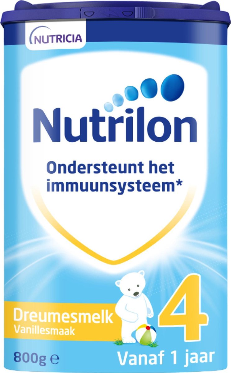 Nutrilon Dreumesmelk Vanille 4 - Flesvoeding vanaf 1 jaar - 800 gram