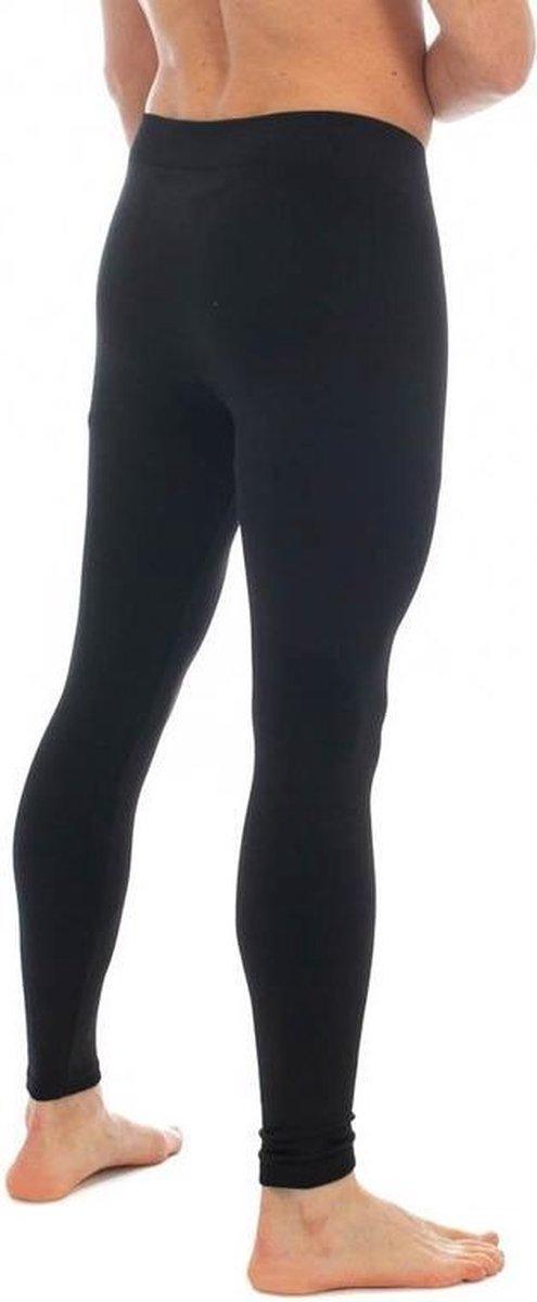 Thermo broek lang voor heren zwart - Wintersport kleding - Thermokleding - Lange thermo broek/legging - Herenlegging XL/XXL
