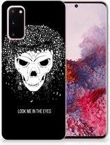 Silicone Back Case Samsung Galaxy S20 Skull Hair