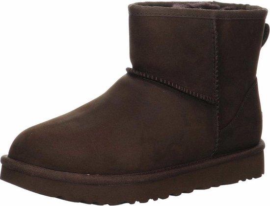 UGG Classic Mini Leather Dames Laarzen Chocolate Maat 41