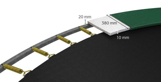 BERG Favorit Levels Trampoline à 430 cm met Veiligheidsnet Comfort