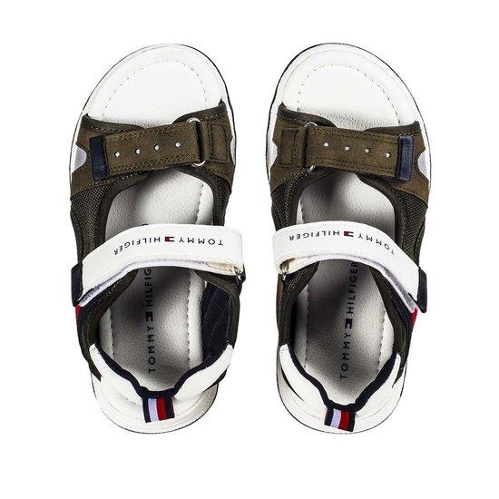 Tommy Hilfiger Velcro jongens sandaal 30740 Military Green BI19aHB3