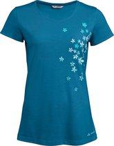 Vaude Wo Skomer Print T Outdoorshirt Dames - Kingfisher - Maat 40