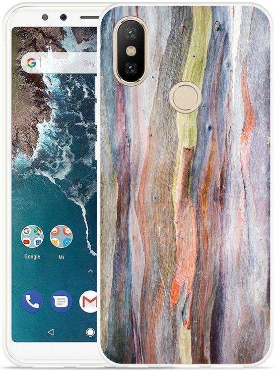 Xiaomi Mi A2 Hoesje Wood Art II