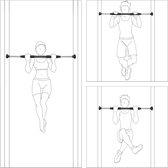 relaxdays Deurstang uitschuifbaar - Optrekstang deurrekstok - Fitness stang deur tot 100kg