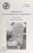 Cérémonies du souvenir de la Résistance