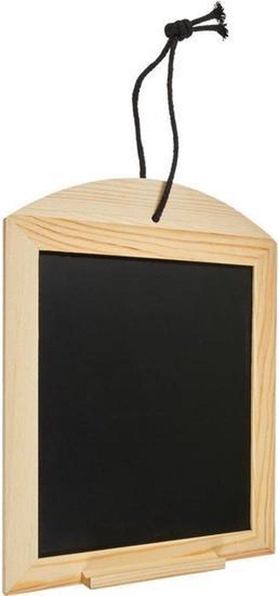 Merkloos / Sans marque Houten krijtbordje/schrijfbordje/memobordje incl. krijt 34 cm Hobby/knutselbenodigdheden tekenbord Home deco Woonaccessoires/decoratie online kopen