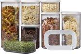 Mepal – Starterset bewaardoos Modula – 7-delig – wit – bewaardozen voedsel – voorraaddozen - stapelbaar