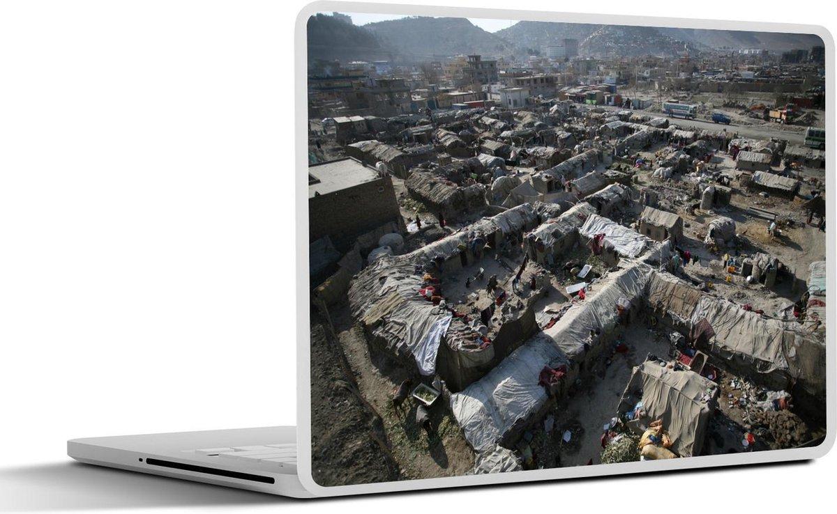 Laptop sticker - 10.1 inch - De sloppenwijken in de Afghaanse stad Kabul