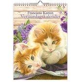 Franciens Katten Verjaardagskalender - Bloemen (formaat 18x25)