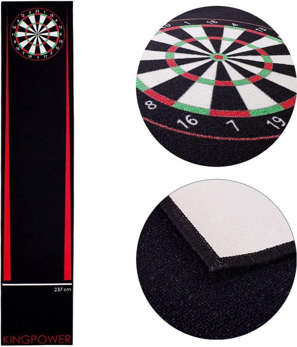 dartmat -Kingpower Dart Mat, Dart Carpet Tournament Mat as Throw Line and Floor Protection in 2 Sizes, 237 cm and 290 cmBrand: Kingpower- (WK 02127)