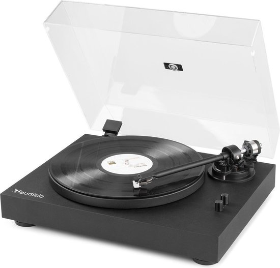 Platenspeler - Audizio RP340 high-end platenspeler met Audio Technica element, anti-skating en instelbare naalddruk - Zwart