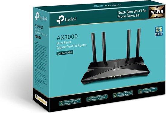 TP-LINK Archer AX50 - Router - AX - geschikt voor Wifi 6 - 3000 Mbps
