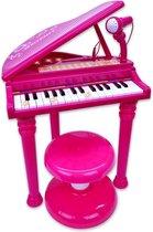 Bontempi Elektronische Piano Met Microfoon 53 Cm Roze