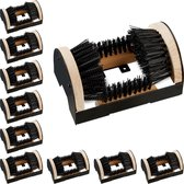 relaxdays 10 x voetveger - borstelmat voor schoenen - schoenen schoonmaken – voetenveger