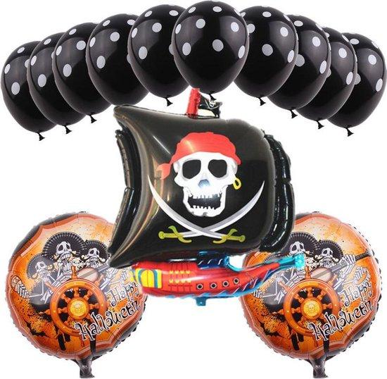 Ballonnen set Piraten schip 16 delig