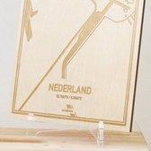 Kaart Nederland -  Gegraveerde stadskaart Hood&Wood - Hout, A4