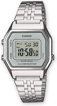 Casio Collection horloge LA680WEA-7EF- Staal - Zilverkleurig - Ø 30 mm