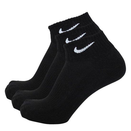 bol.com | Nike sokken half hoog 3 paar zwart-42/46