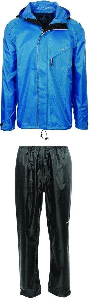 AGU Passat  Regenpak - Maat L  - Unisex - blauw/zwart