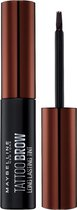 Maybelline Tattoo Brow Peel Off Wenkbrauwgel - 3 Dark Brown - Bruin