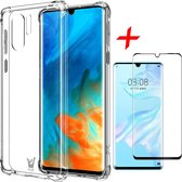 Huawei P30 Pro Hoesje + Screenprotector Full Screen - Transparant Shockproof Case - iCall