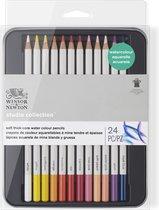 Winsor & Newton Studio Collection 24 Soft thick-core Aquarelpotloden