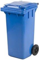 Kunststof Rolcontainer Afvalcontainer Antwerpen Mini-container 140 liter blauw