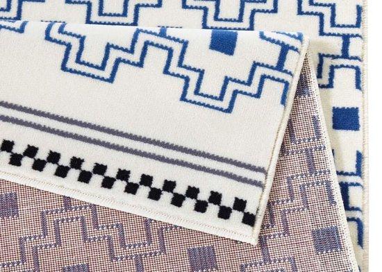Design vloerkleed Cubic - crème/blauw 70x140 cm - Zala Living