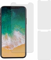 MP case 3 Stuks iPhone X Tempered Glass Screen Protector glas folie 9H