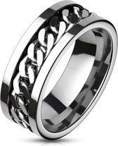 Chain - Zilveren ring met kettingmotief