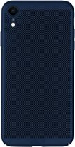 Let op type!! MOFI Honeycomb Texture Breathable PC Shockproof Protective Case for iPhone XR (Blue)