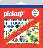 Pickup plakletters boekje Helvetica blauw - 10 mm