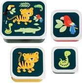 Tijger snackdoosjes set van 4 - A Little Lovely Company