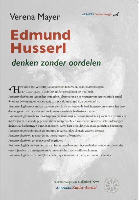 Boek cover Fenomenologische bibliotheek 9 -   Edmund Husserl van Verena Mayer (Paperback)