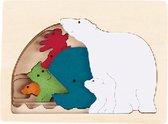 Hape Vormenpuzzel Polar Junior Hout 5 Stukjes
