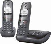 Gigaset A475A - Duo DECT telefoon - met antwoordapparaat - Zwart