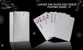 Luxe zilveren Speelkaarten - Waterdichte Speelkaarten - Pokerkaarten - Speelkaarten - Kaarten - Waterproof kaarten - Geplastificeerd - Competitief - Spelletjes -