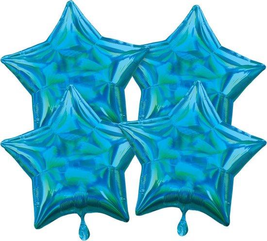 Amscan Folieballonnen Ster 41 Cm Blauw 4 Stuks