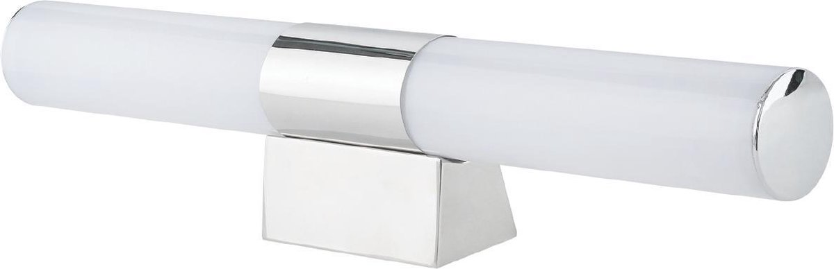 LED Spiegelverlichting - Rond 12W - Natuurlijk Wit 4200K - Glans Chroom Kunststof - BES LED