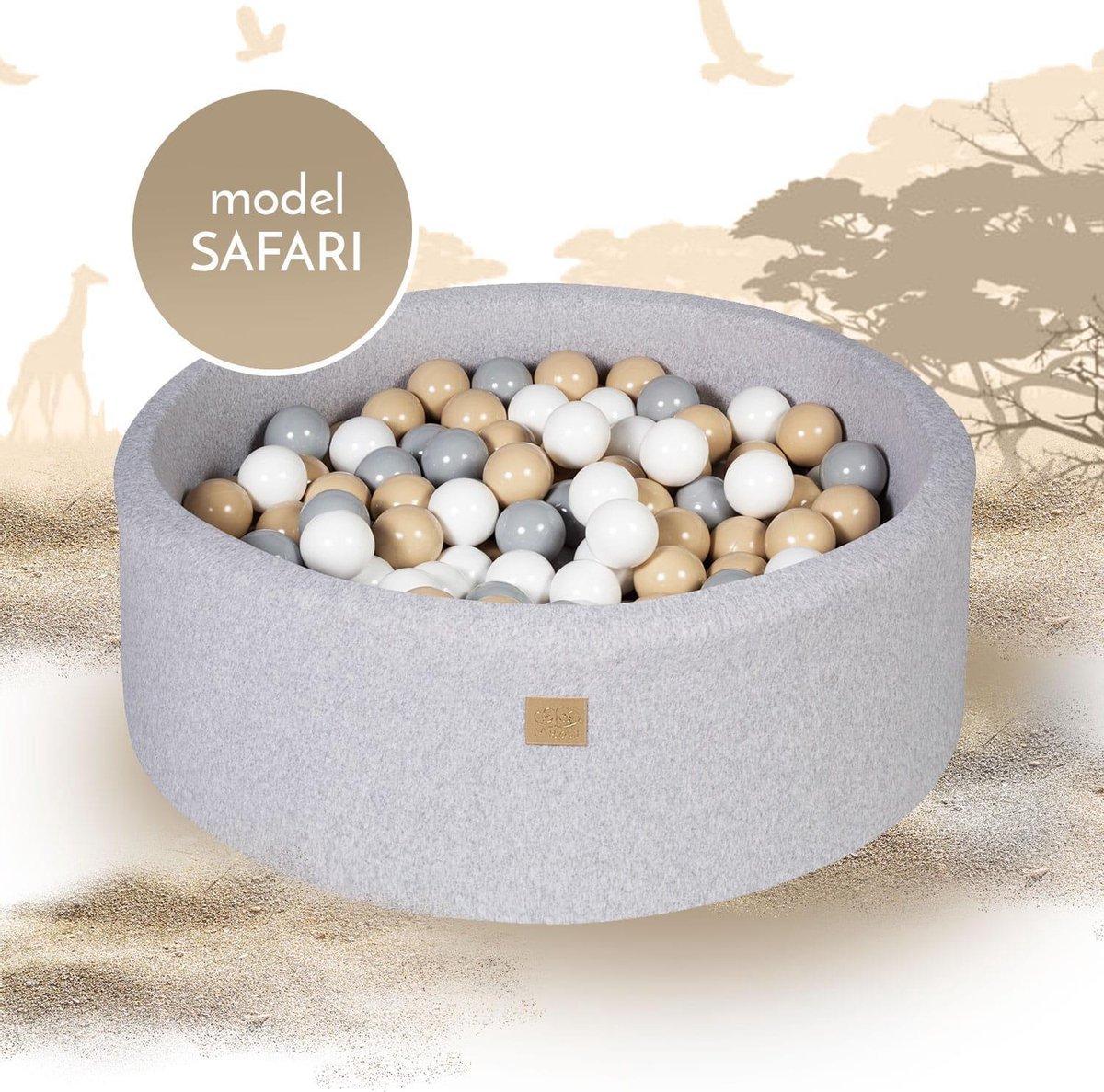 MeowBaby® Ballenbak set - incl. 250 ballen - Safari set