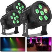 Feestverlichting - BeamZ lichtset met 3x BeamZ SLIMPAR30 LED discolamp - Krachtige en kleurrijke discolampen voor een sfeervol feest!