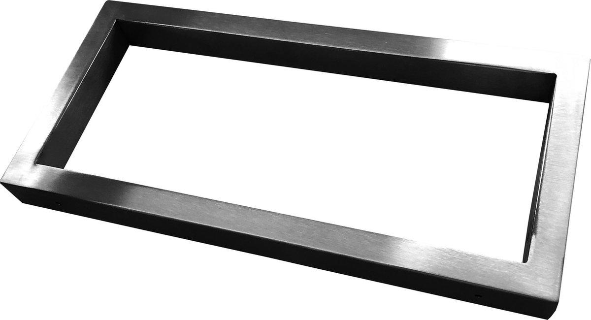 Wiesbaden Modul ondersteuningsbeugel 46 x 22 cm vierkant, geborsteld staal