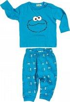 Sesamstraat babyset 2-delig - Koekie Monster - Cookie Monster -  blauw - maat 74/80