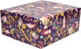 5x Rollen Sinterklaas kadopapier print gekleurd  2,5 x 0,7 meter op rol 70 grams - Luxe papier kwaliteit cadeaupapier/inpakpapier - Sint en Piet