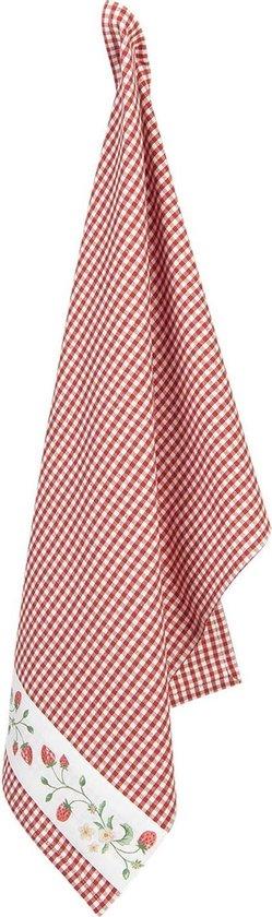 Clayre & Eef Theedoek WIS42 50*70 cm - Meerkleurig 100% Katoen Vaatdoek Keukendoek Schotelvod