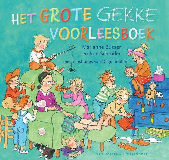 Boek cover Het grote gekke voorleesboek van Marianne Busser (Hardcover)